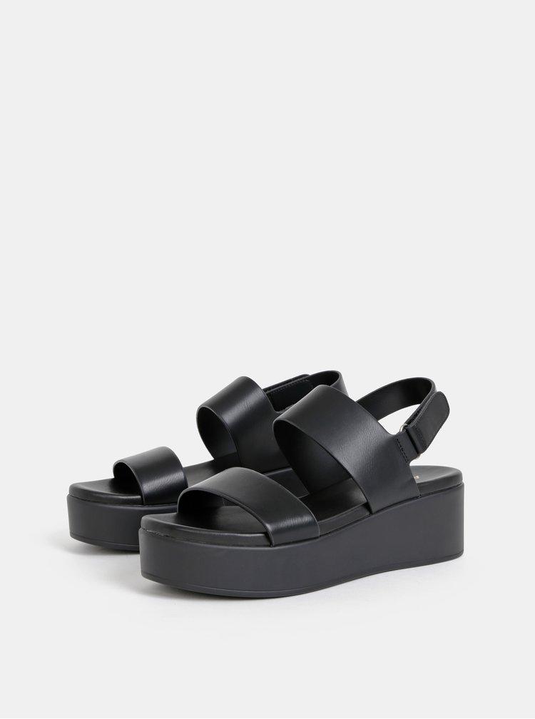 Sandale negre de dama cu platforma ALDO Agrerinia