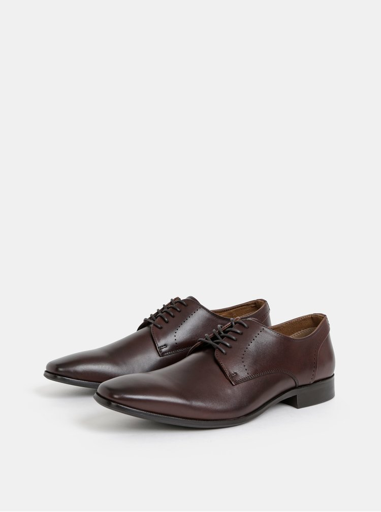 Pantofi barbatesti maro inchis din piele ALDO Proenia