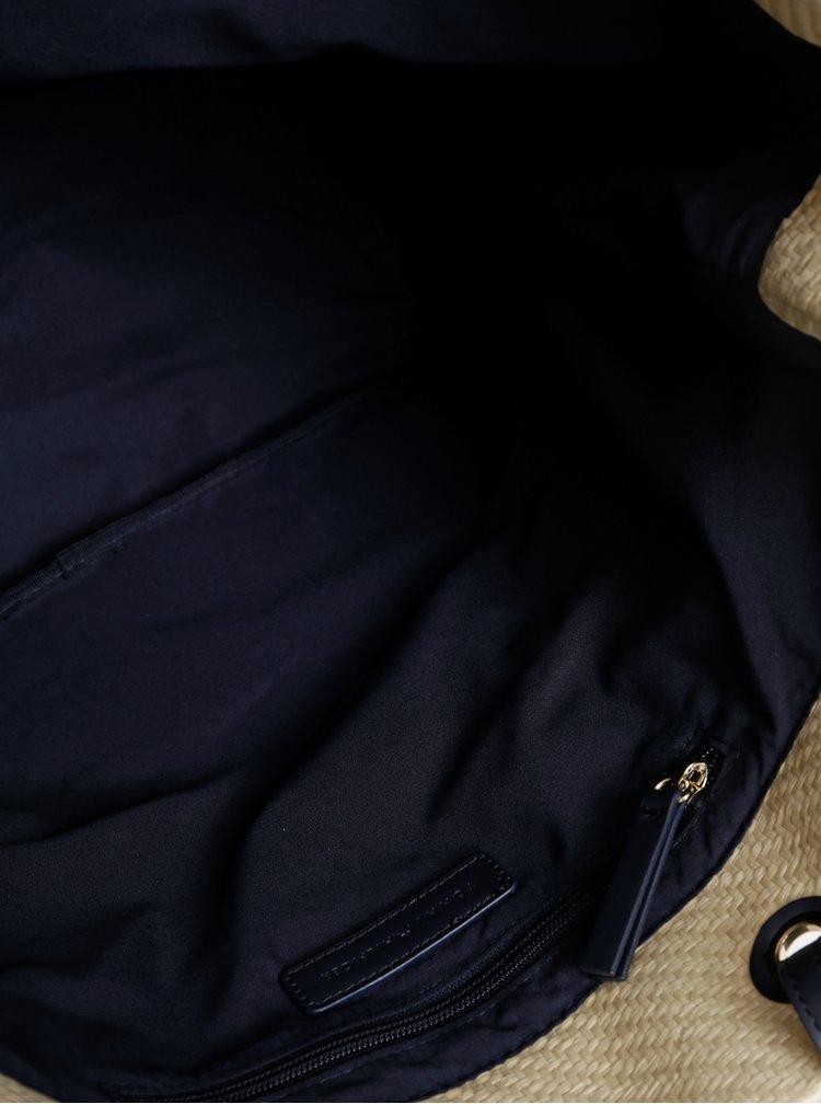 Krémový slaměný shopper Tommy Hilfiger Raffia