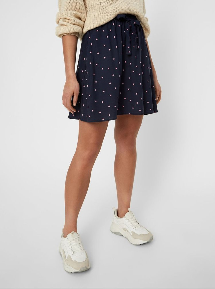 Tmavě modrá puntíkovaná sukně VERO MODA Boca