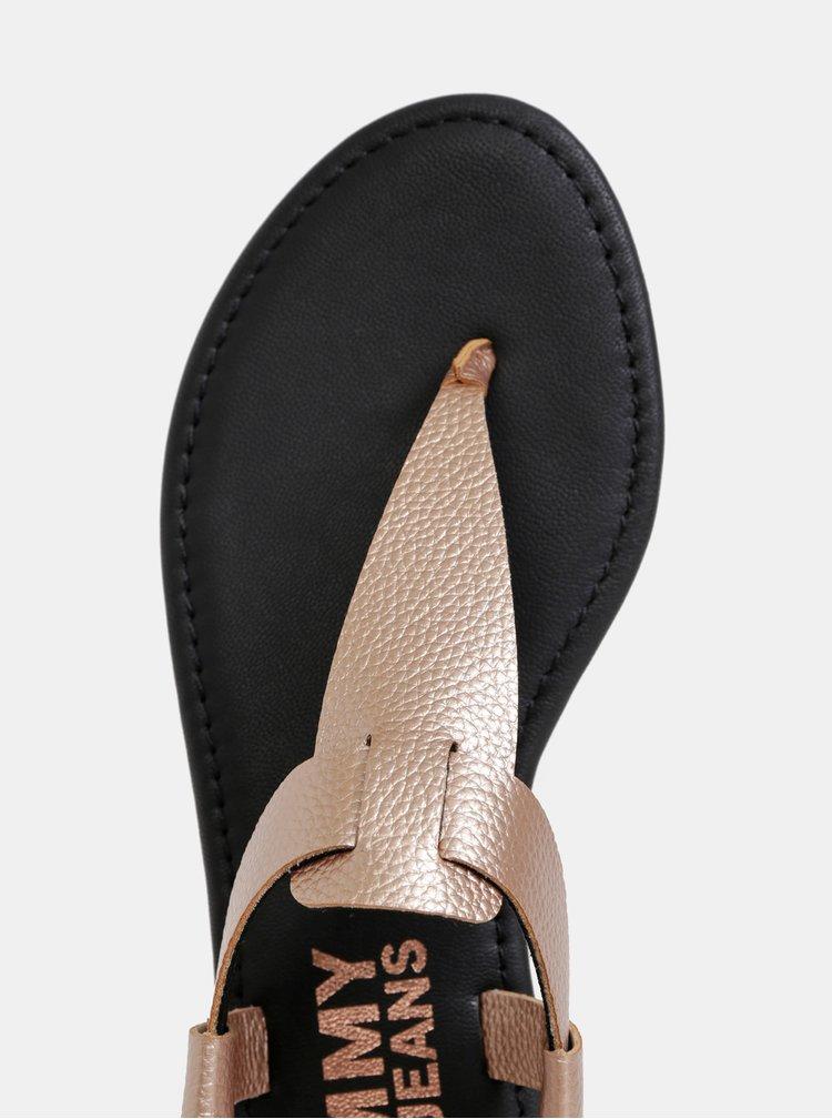 Dámske sandále v ružovozlatej farbe Tommy Hilfiger