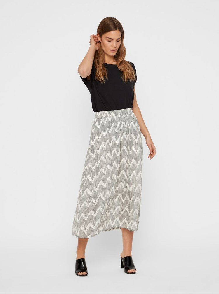 Fusta midi gri cu model AWARE by VERO MODA Harlem