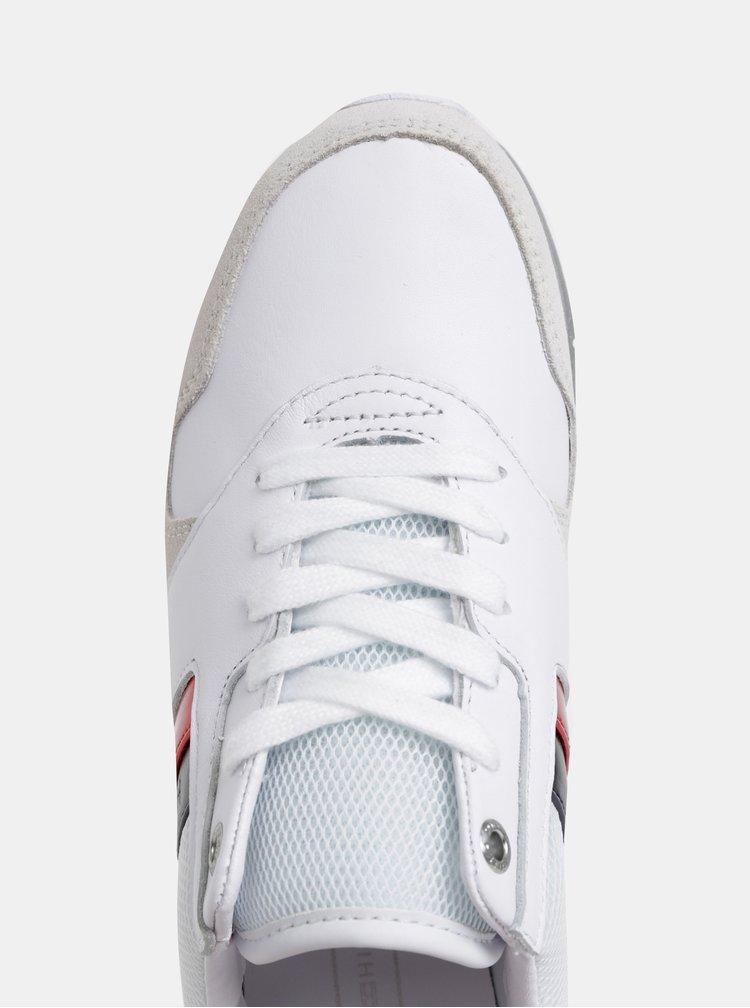 Biele dámske tenisky so semišovými detailmi Tommy Hilfiger