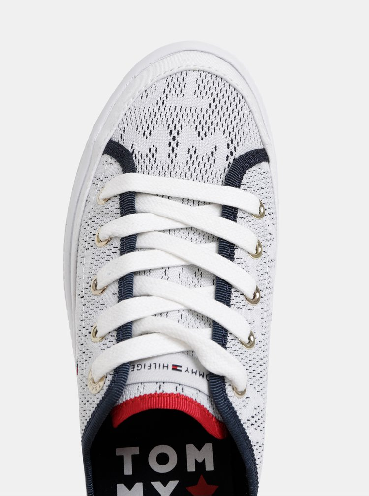 Biele dámske tenisky na platforme Tommy Hilfiger