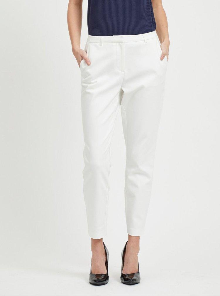 Biele kostýmové nohavice VILA Adelia