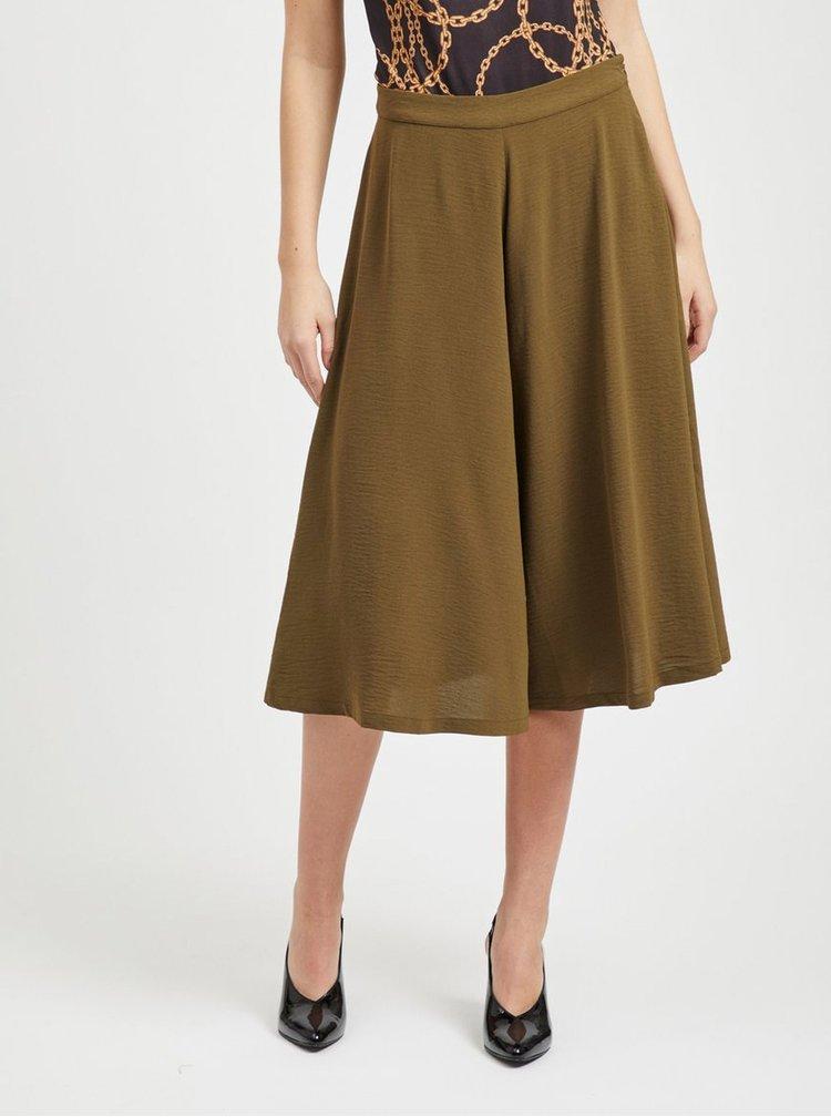 Pantaloni culottes kaki VILA Daline