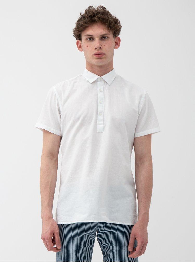Bílá regular fit košile s příměsí lnu Selected Homme Regtune