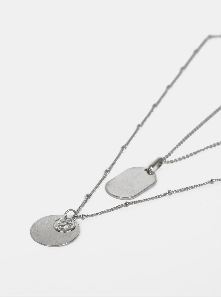 Sada dvou řetízků ve stříbrné barvě Pieces Celeste