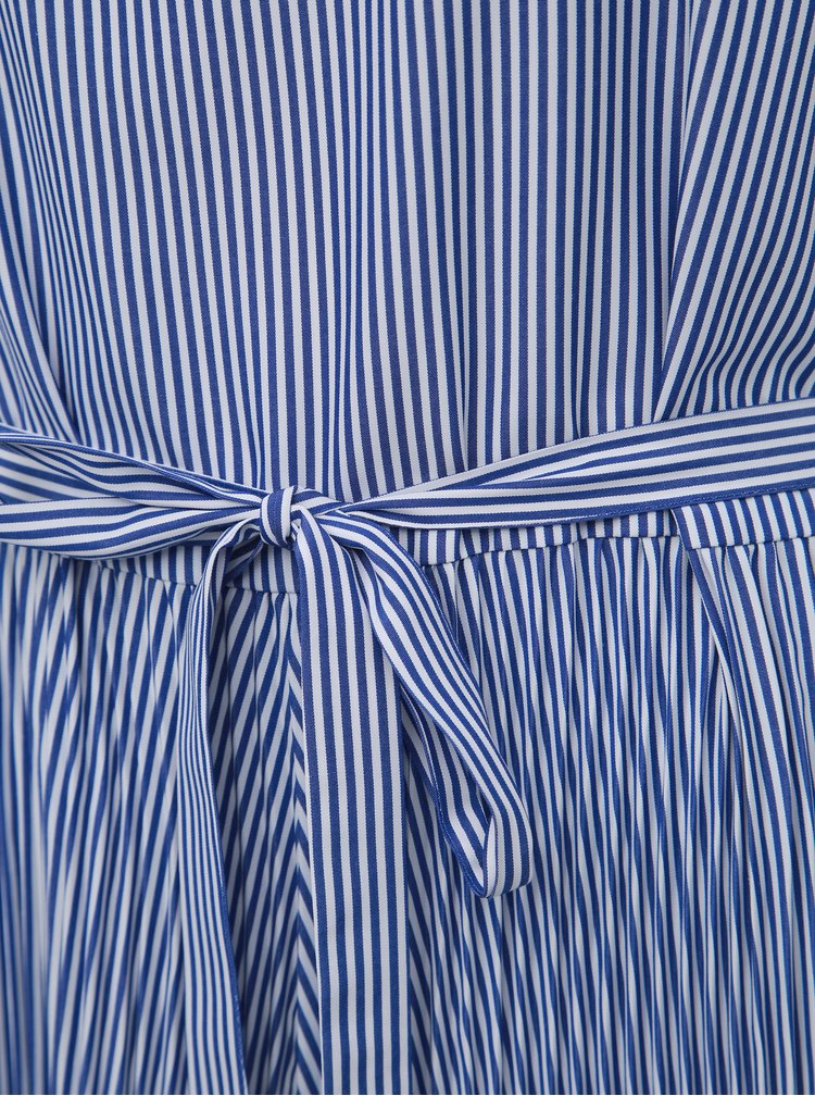 Modré pruhované maxišaty Tommy Hilfiger Daisy