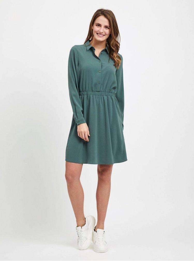 Zelené košilové šaty VILA Laia