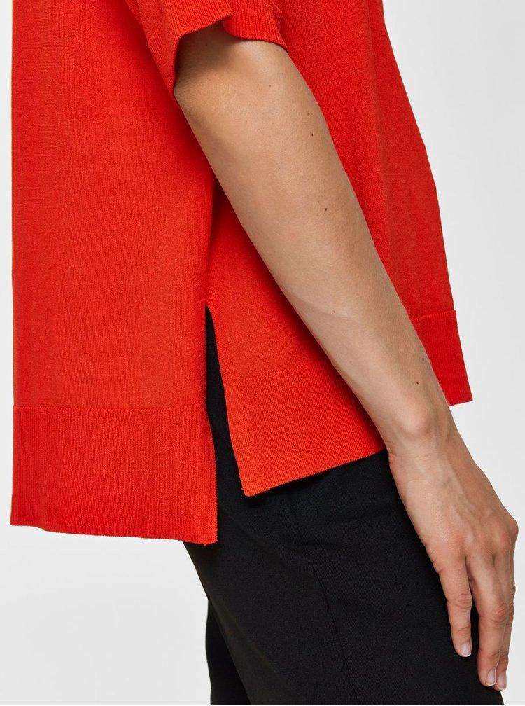 Červený top s rozparky Selected Femme Wille