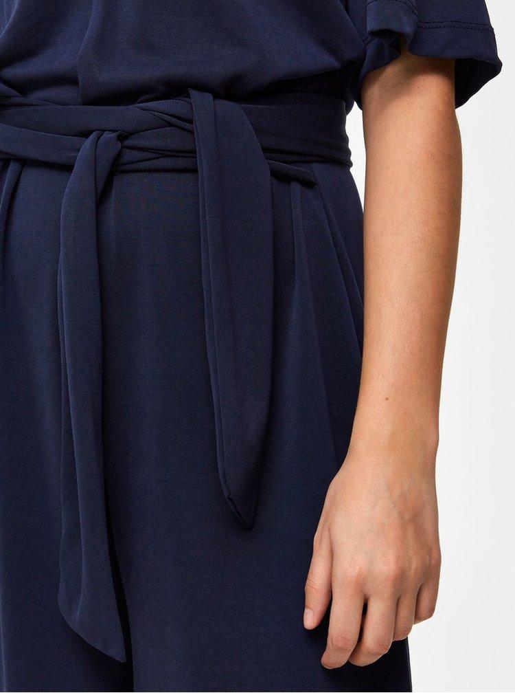 Salopeta scurta albastru inchis cu decupaj la spate Selected Femme Elena