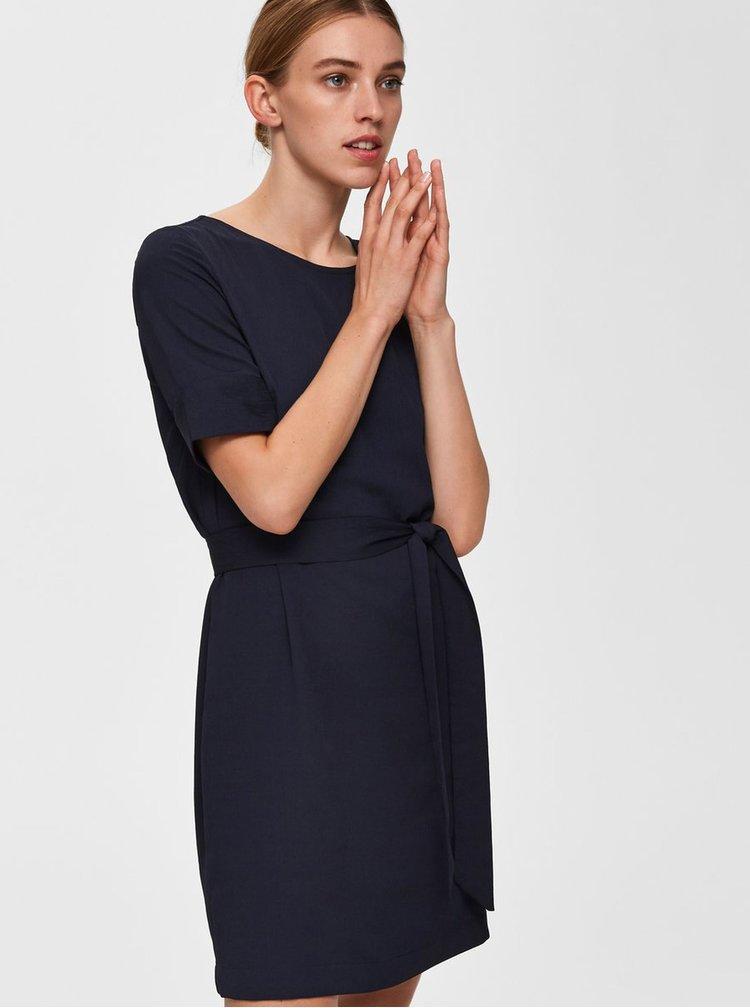 Rochie albastru inchis Selected Femme Dorit Tunni