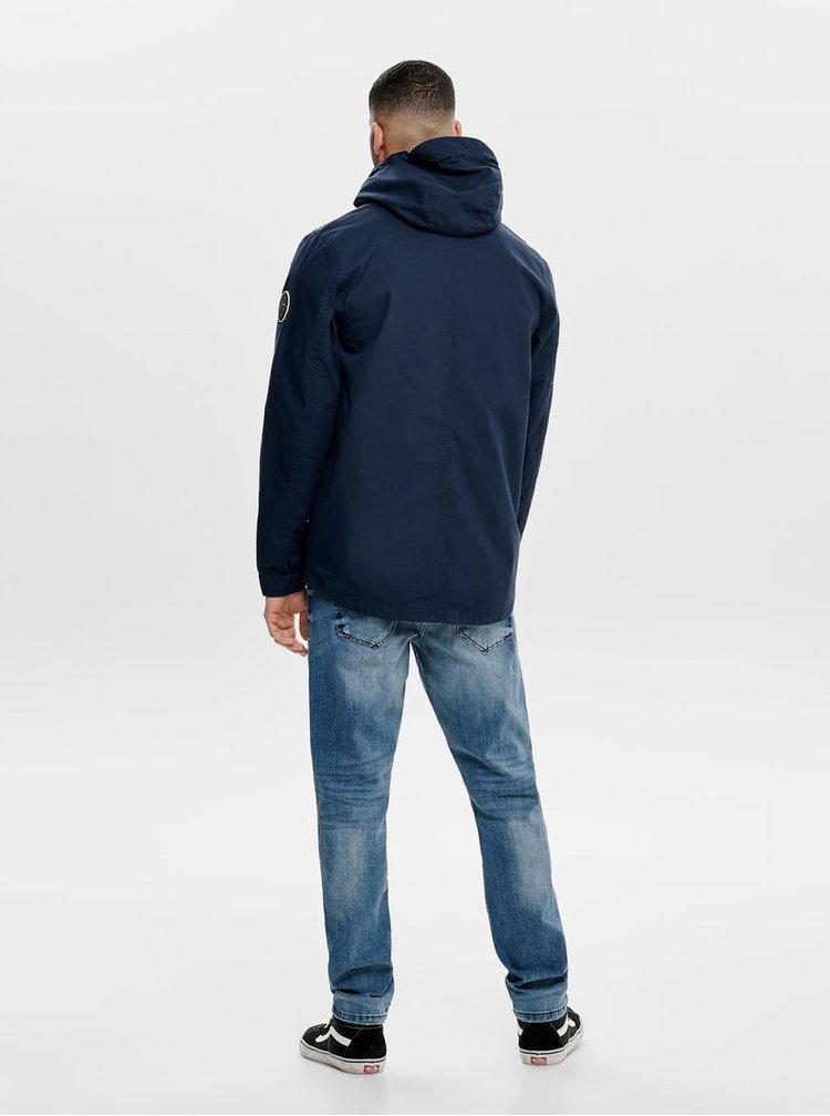 Jacheta albastru inchis lejera ONLY & SONS Asbjorn