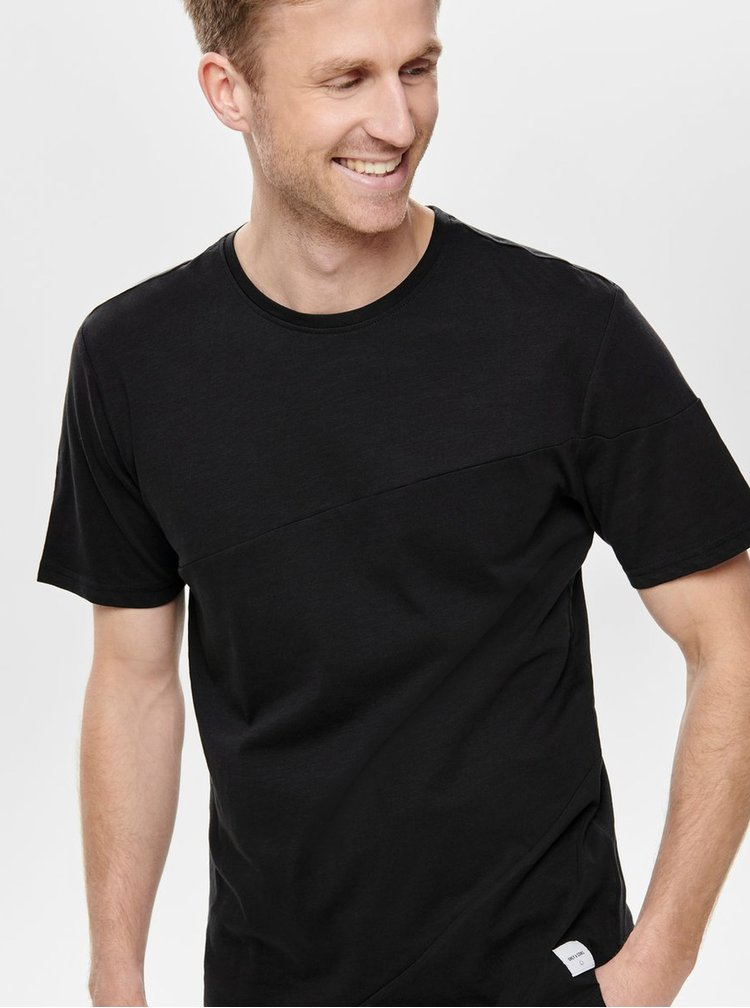 Tricou negru ONLY & SONS Larson