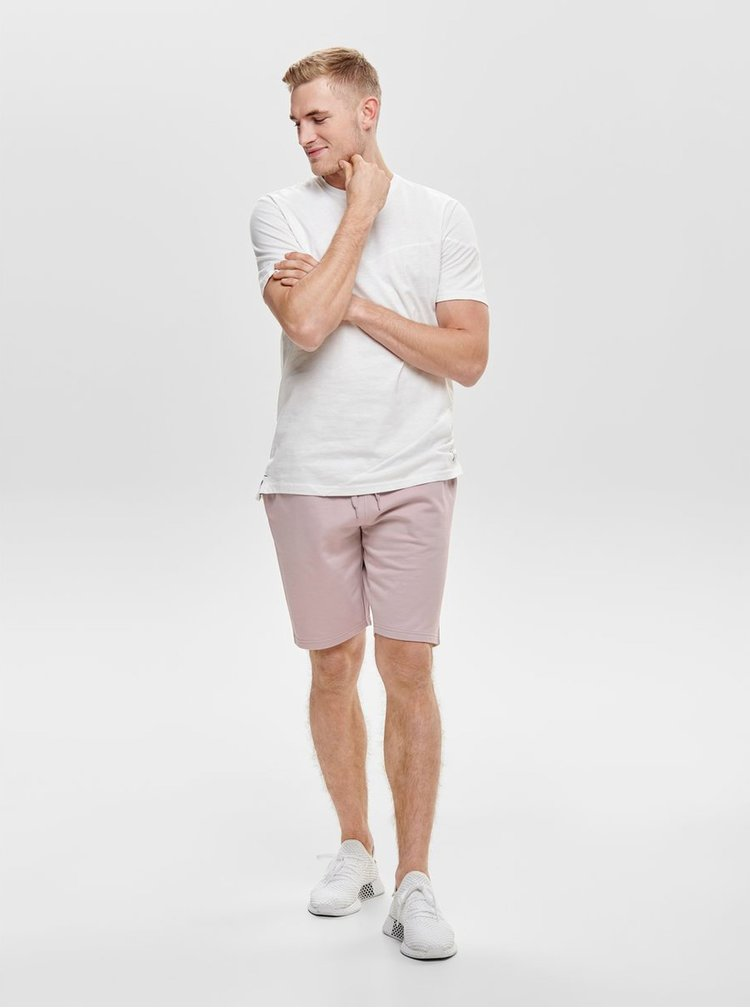 Tricou alb ONLY & SONS Larson