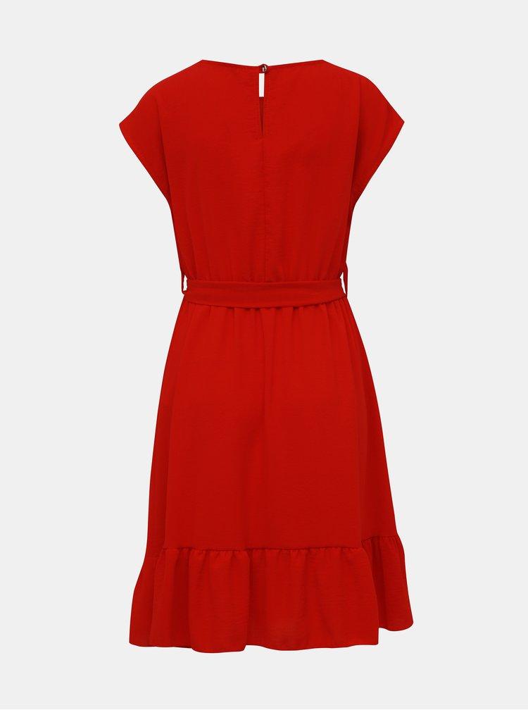 Červené šaty s volánem Haily´s Amy