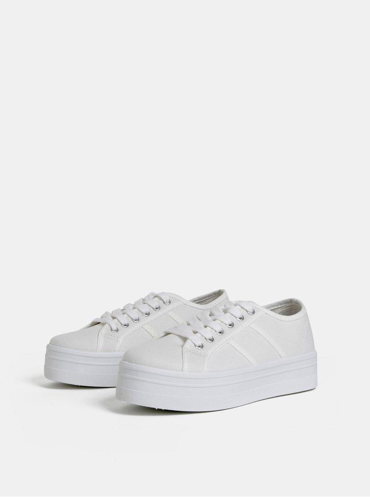 Bílé dámské tenisky na platformě Haily´s Pina