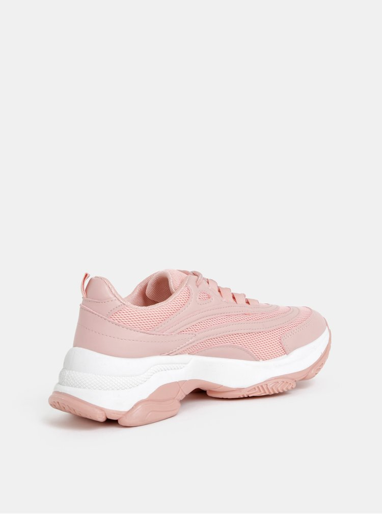 Rúžové dámske tenisky na platforme Haily´s Spunky