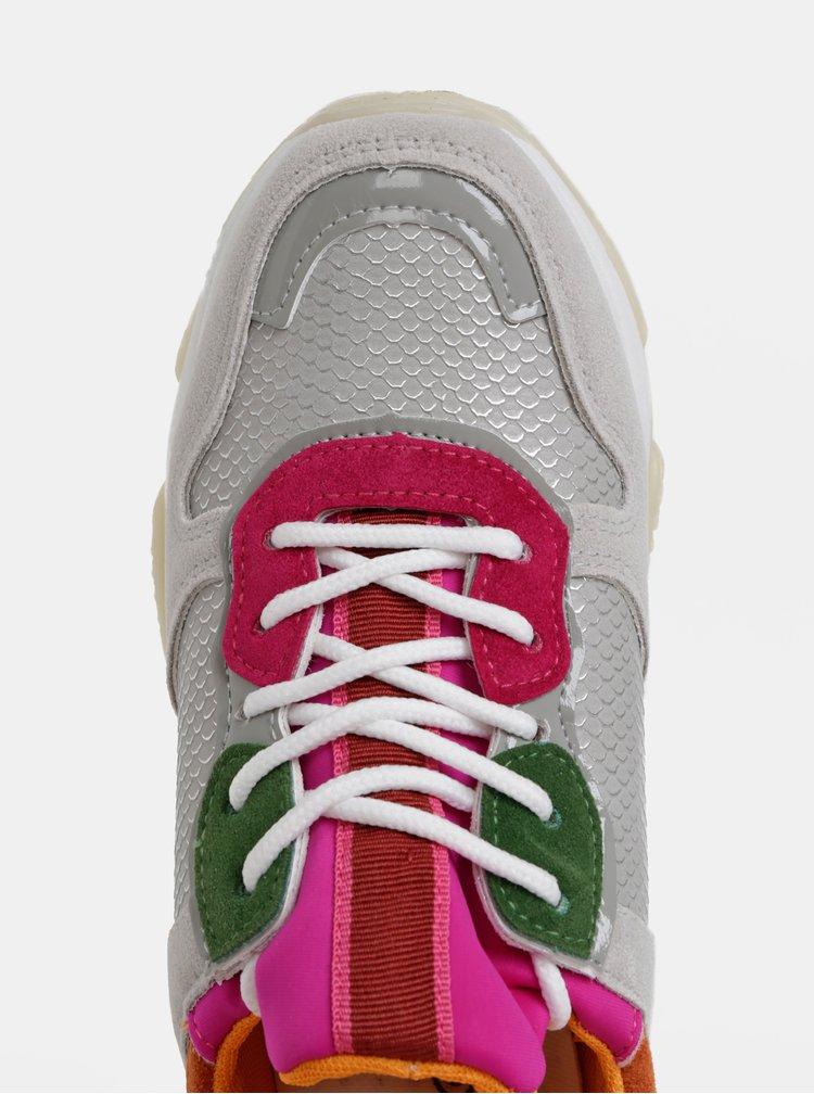 Svetlošedé dámske tenisky na platforme Haily´s Chunky