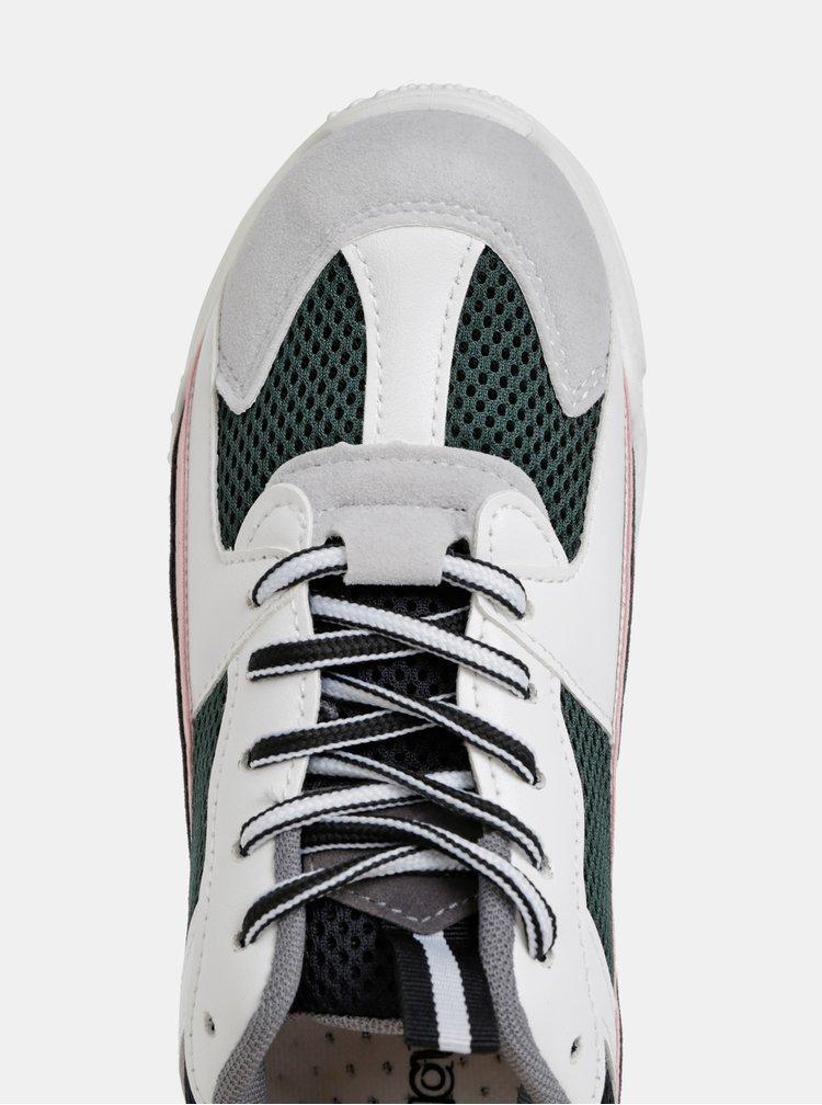 Biele dámske tenisky na platforme Haily´s Funky