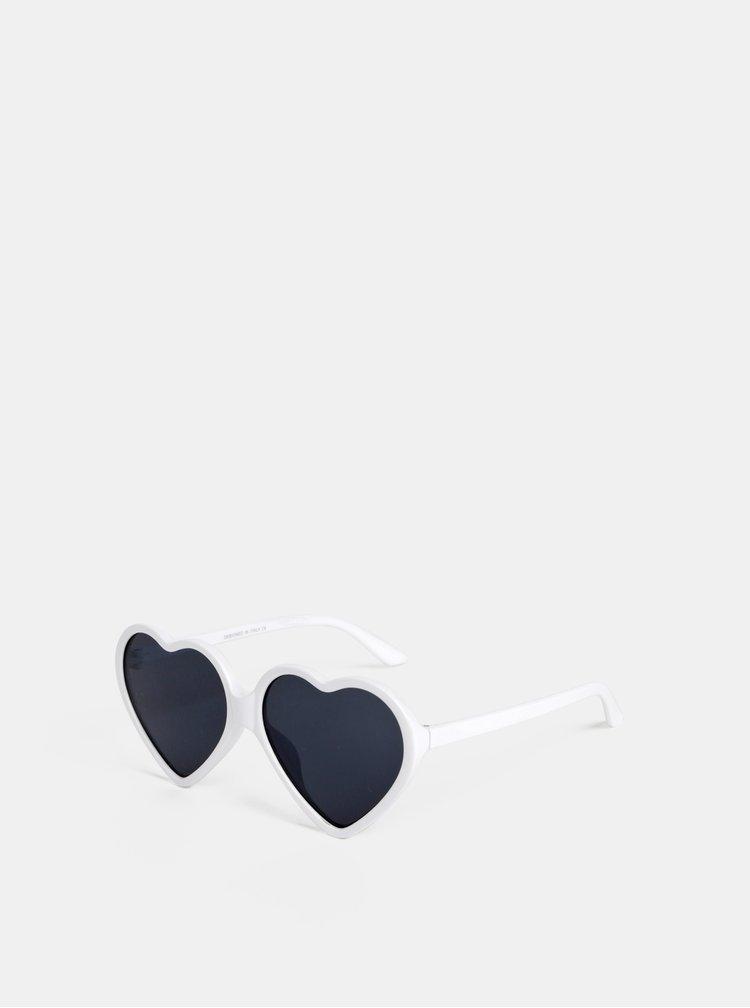 Bílé dámské sluneční brýle Haily´s Hearty