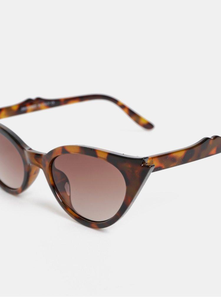 Hnědé dámské vzorované sluneční brýle Haily´s Gaily