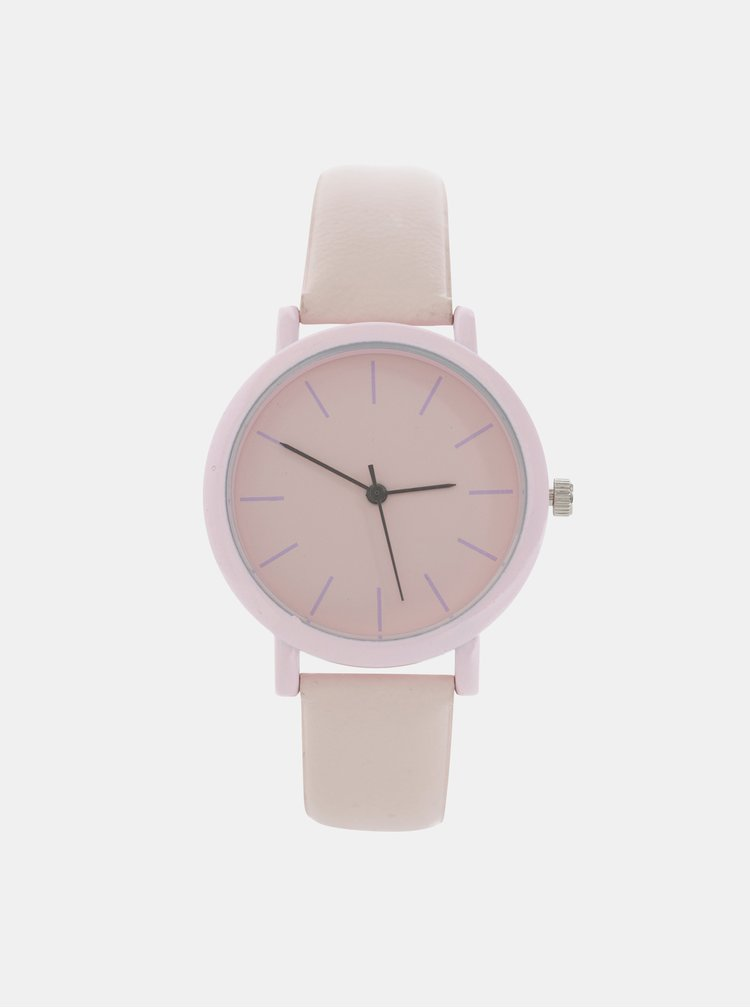 Dámské hodinky se světle růžovým páskem Haily´s Sammy
