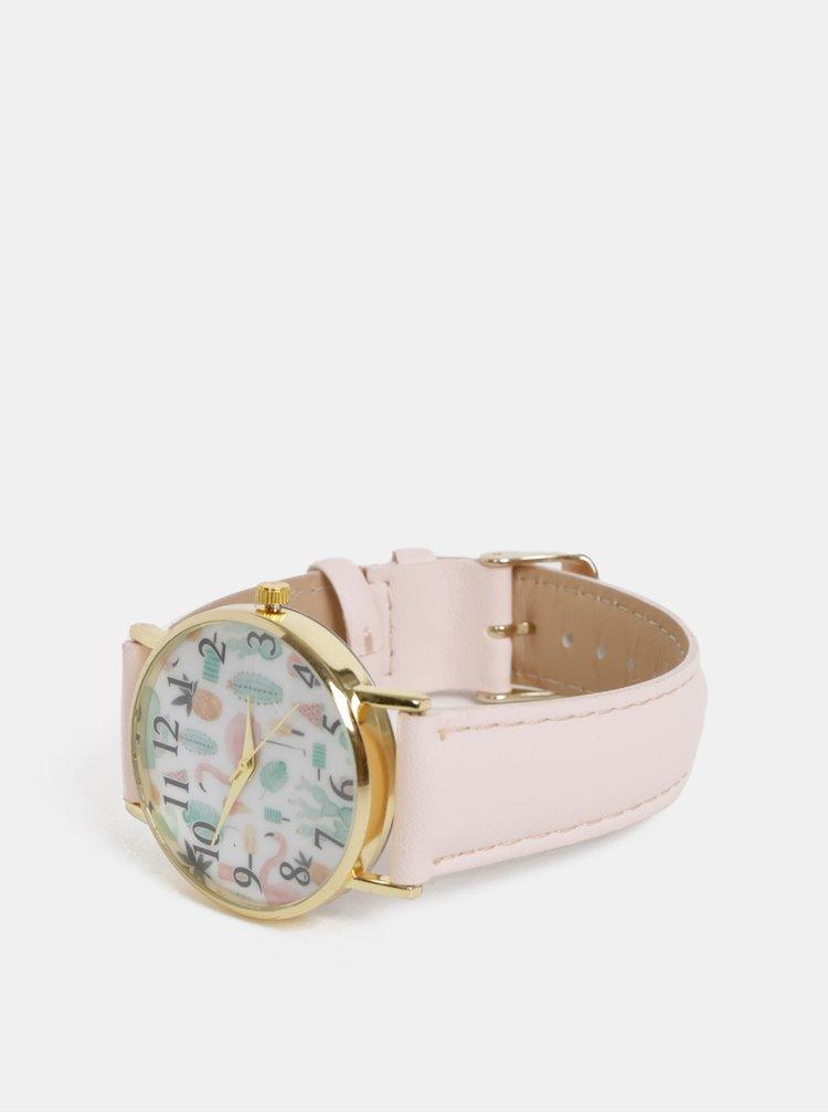 Dámske hodinky so svetlorúžovým páskem Haily´s Lilly