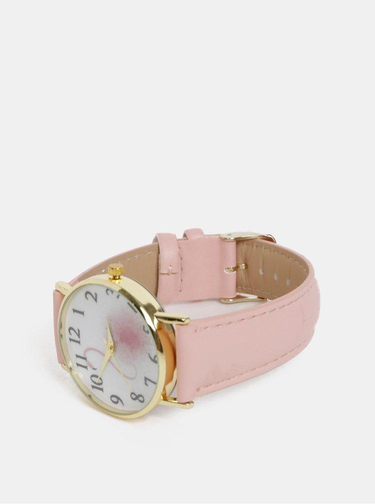 Dámske hodinky s rúžovým remienkom Haily´s Lilly