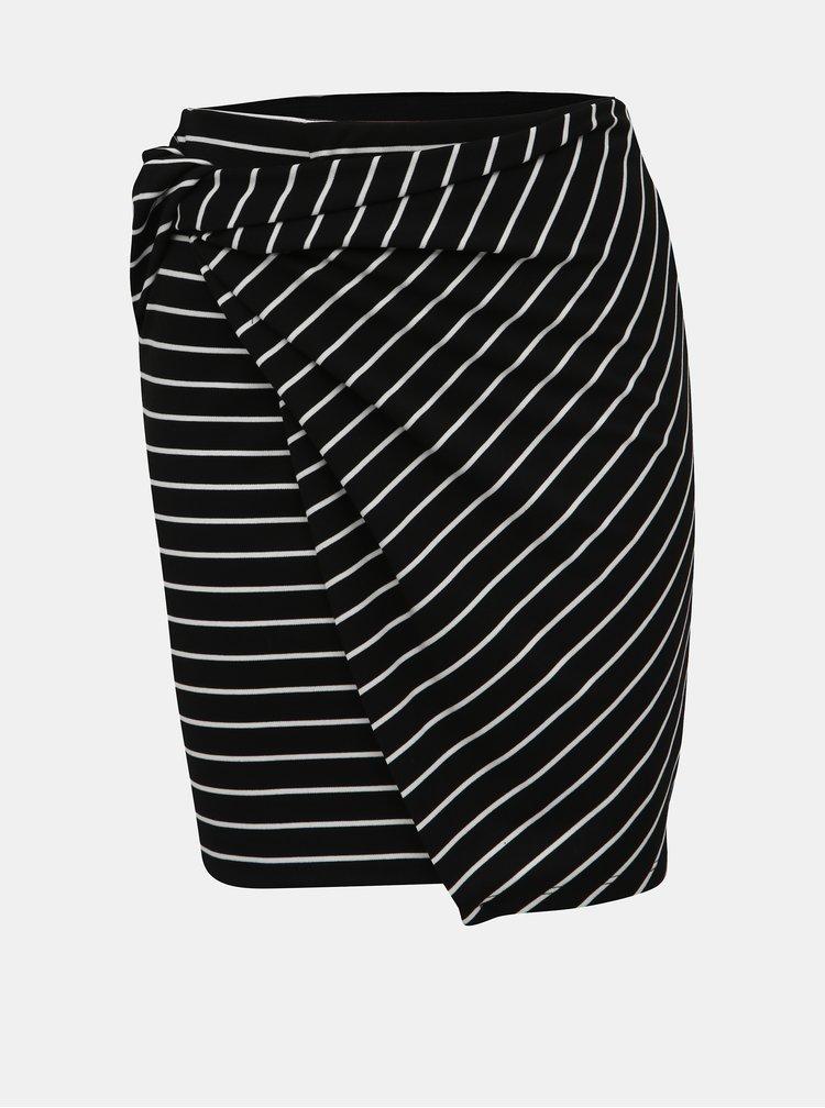 Černá pruhovaná pouzdrová sukně Haily´s Amie