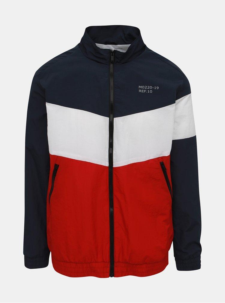 Červeno-modrá pánska ľahká bunda Haily´s Ivar