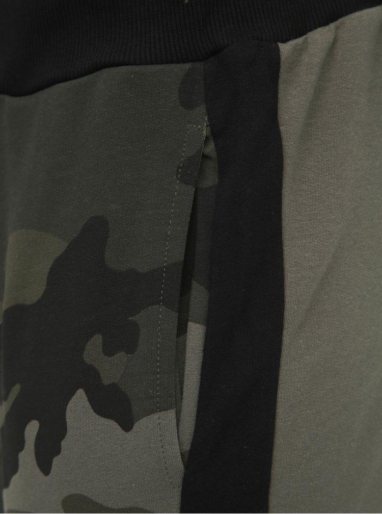 Khaki pánské maskáčové tepláky Haily´s Camou