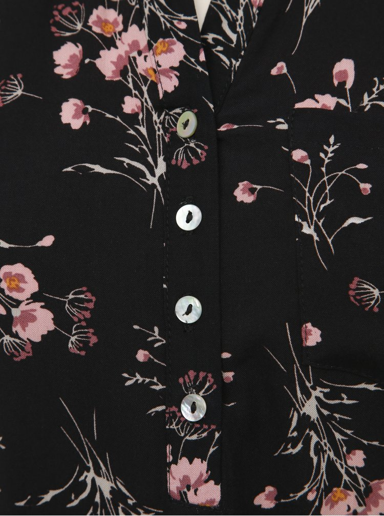 Černá dámská květovaná halenka Haily´s Marlena