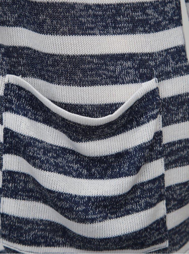 Bílo-modrý dámský pruhovaný kardigan Haily´s  Lisa