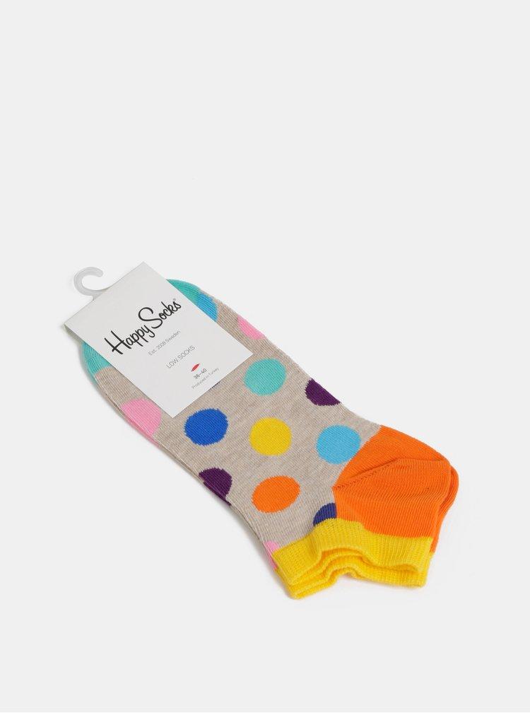 Barevné puntíkované ponožky Happy Socks