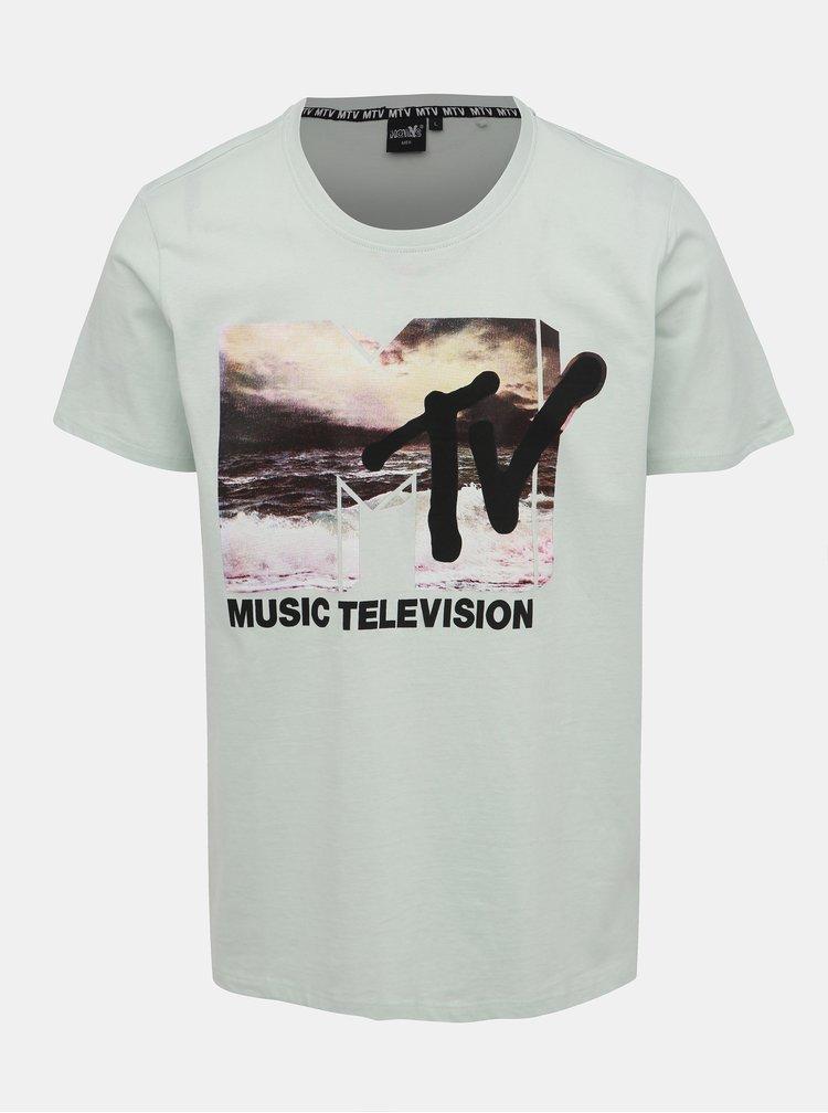 Světle zelené pánské tričko s potiskem Haily´s Music