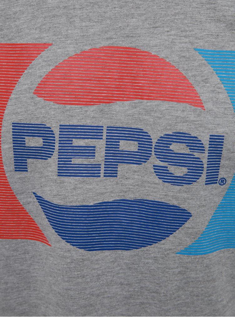 Šedé pánské tričko s potiskem Haily´s Pepsico