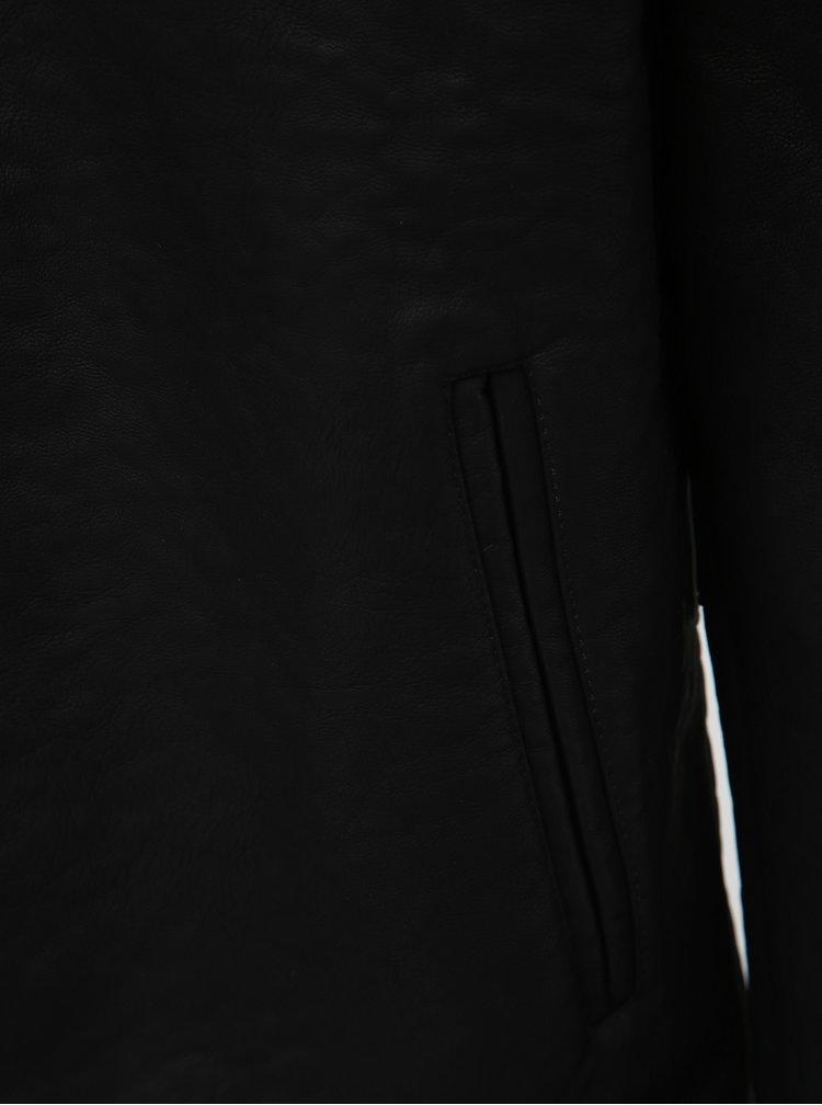 Černá pánská koženková bunda Haily´s Dillan