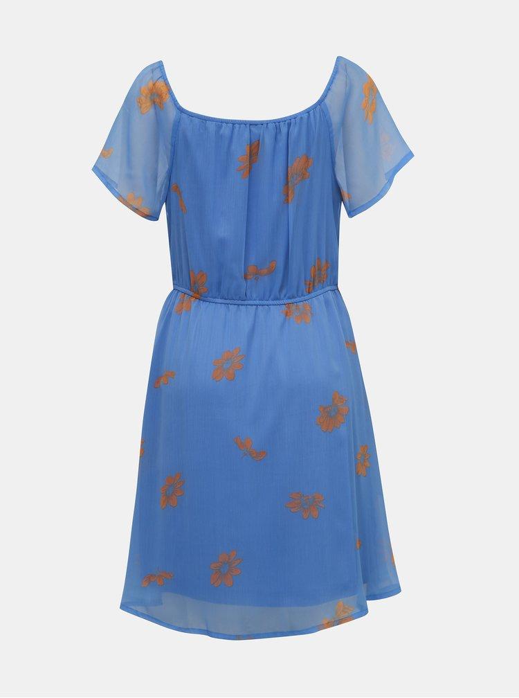 Modré květované šaty VERO MODA Wonda