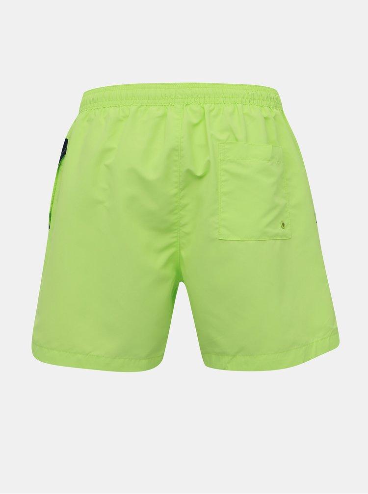Neonově zelené pánské plavky Calvin Klein Underwear