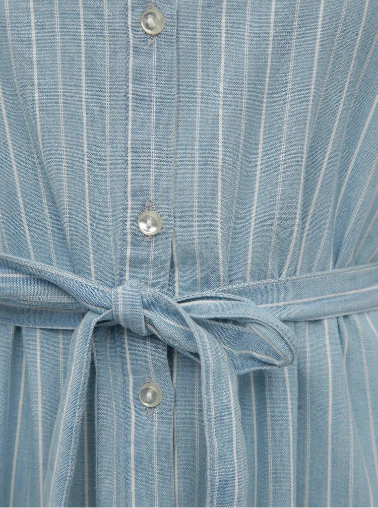 Modré pruhované košilové šaty Jacqueline de Yong Leila