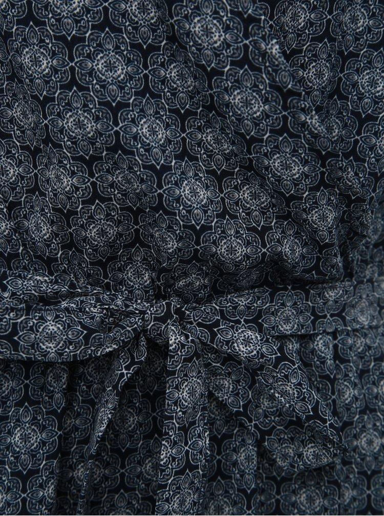 Tmavě modré vzorované maxišaty Jacqueline de Yong Kamma