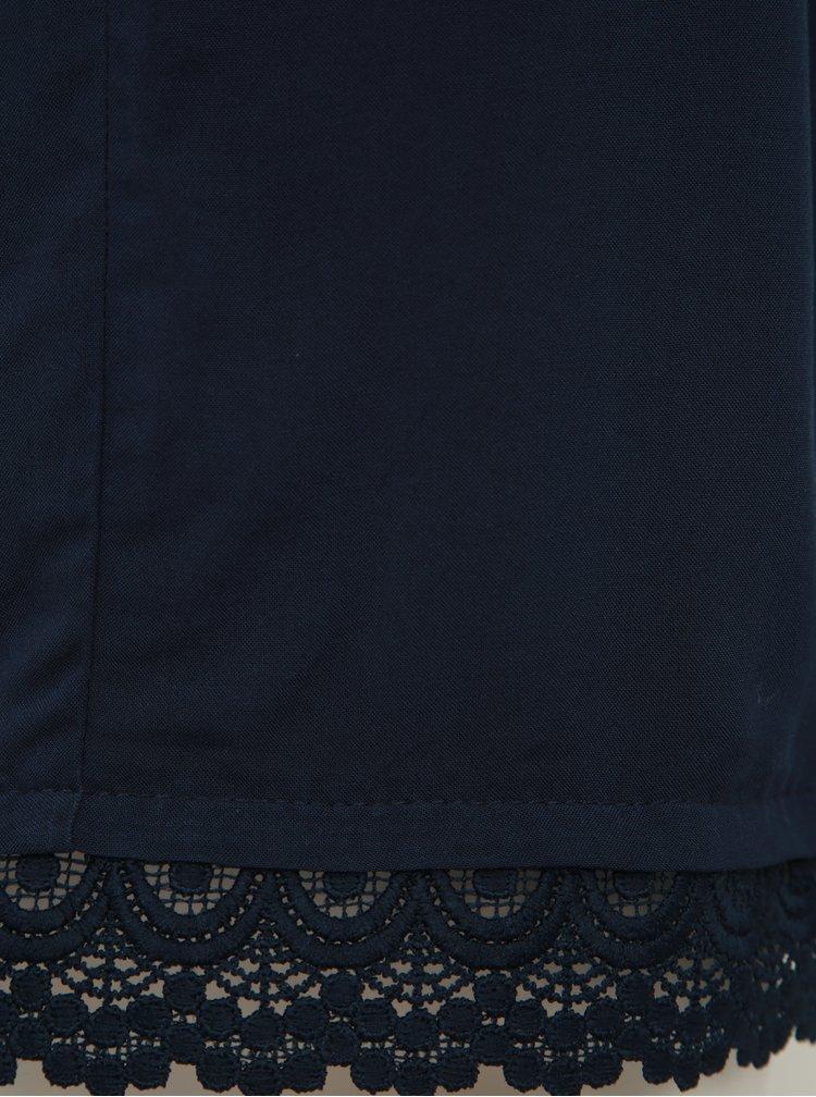 Tmavomodré kraťasy s krajkou Jacqueline de Yong Famous