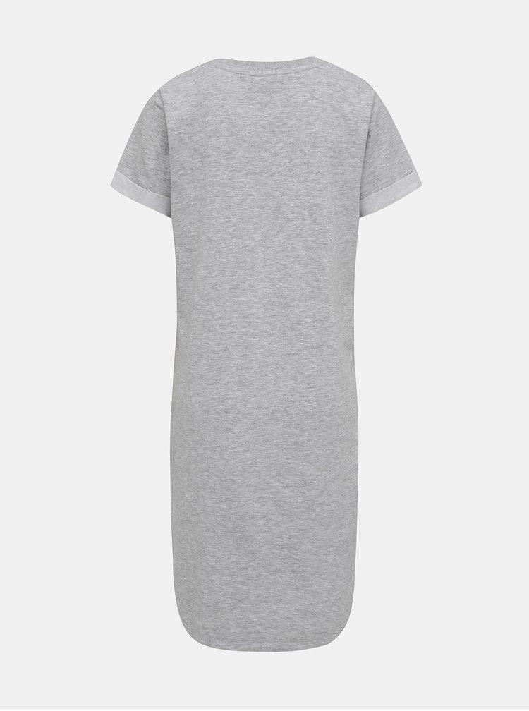 Světle šedé žíhané mikinové basic šaty Jacqueline de Yong Ivy