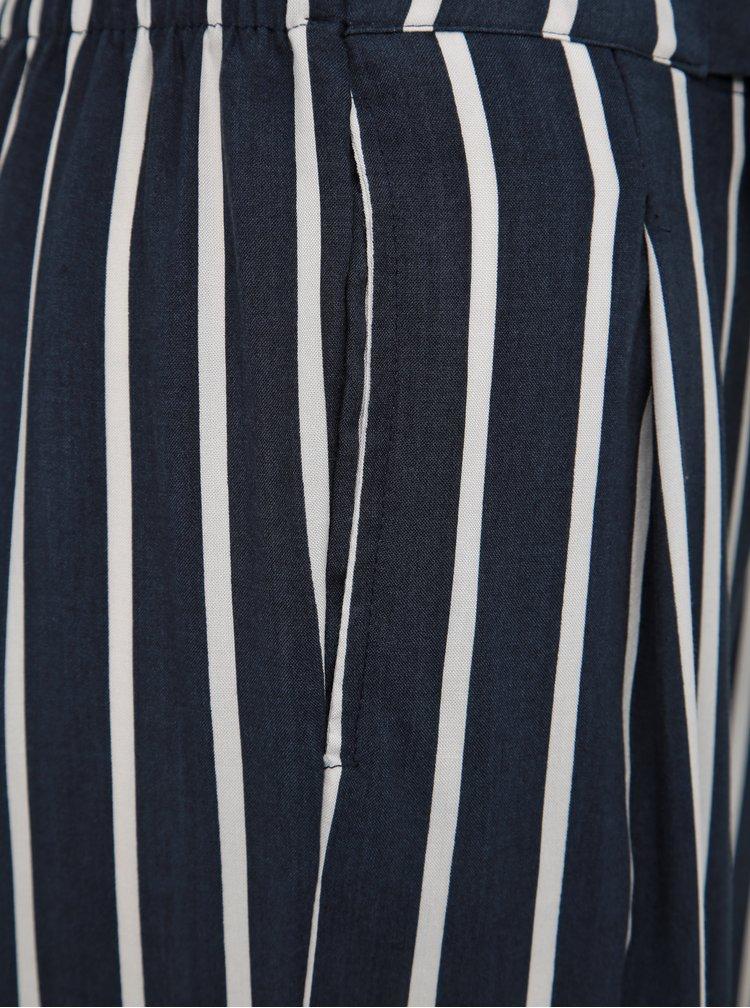 Tmavomodré pruhované culottes Jacqueline de Yong Star