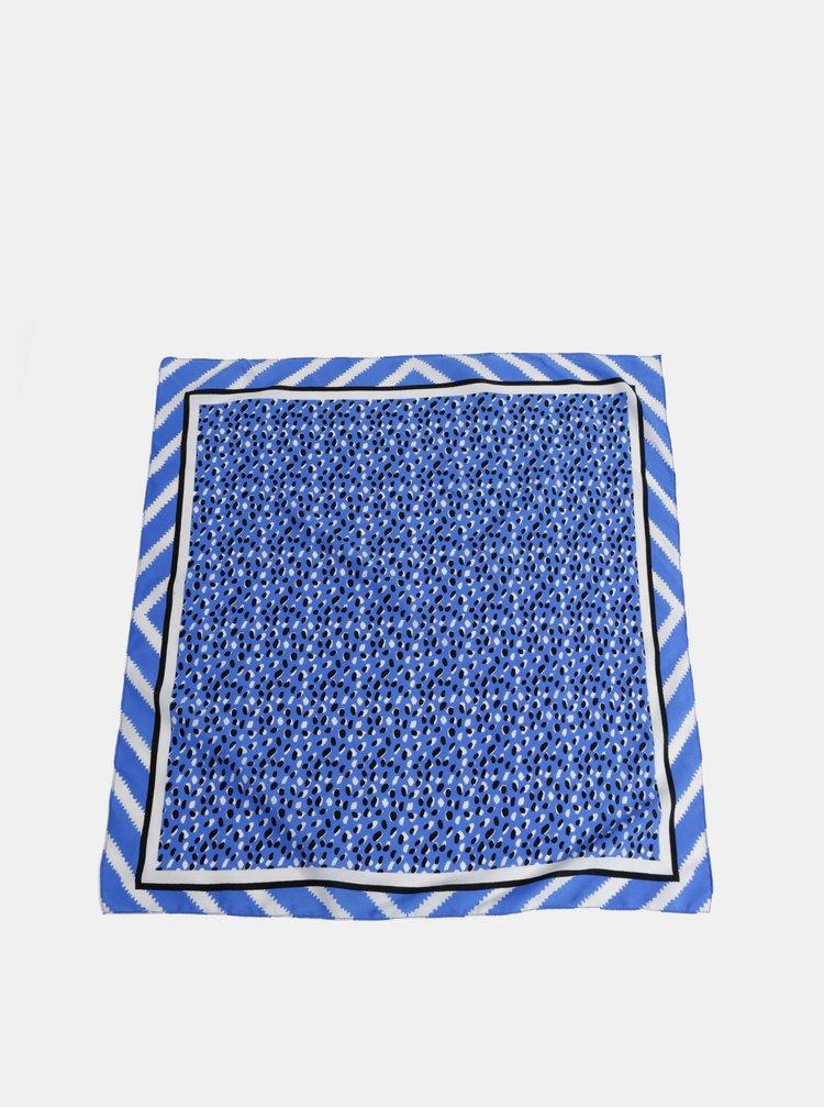 Modrý vzorovaný šátek Pieces Chia