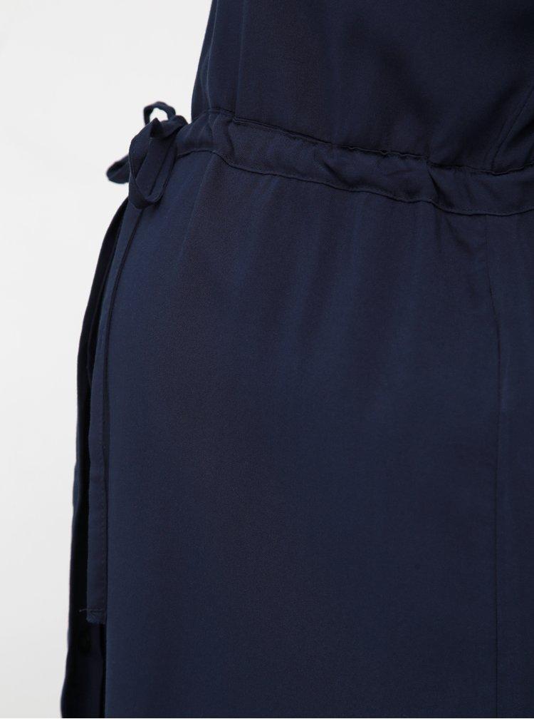 Tmavě modré těhotenské košilové šaty Mama.licious Lagoon