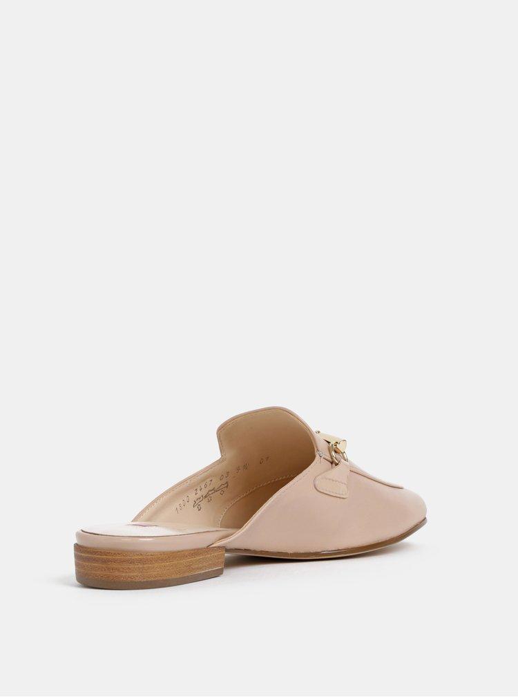 Béžové kožené pantofle Högl Defilee