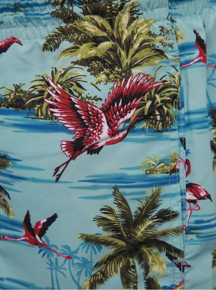 Modré vzorované plavky ONLY & SONS Tan